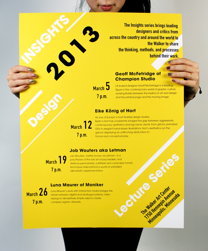 Lecture Series: Insights Lecture Series Poster